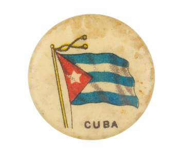 Cuba Flag Advertising Button Museum