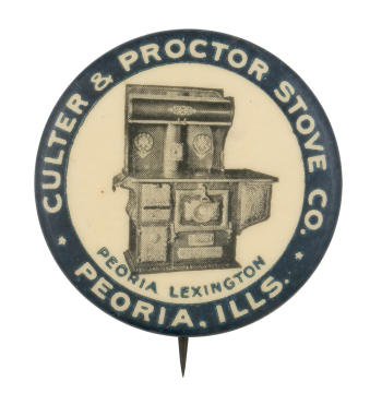 Culter and Proctor Stove Company Advertising Busy Beaver Button Museum