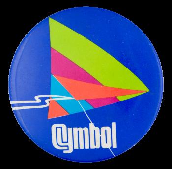 Cymbol Advertising Button Museum