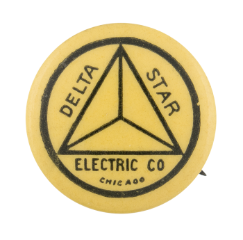 Delta Star Electric Company Advertising Button Museum