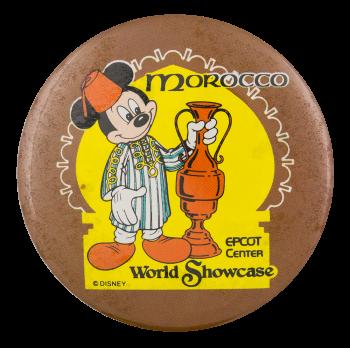 Disney World Showcase Morocco Entertainment Button Museum