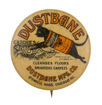 Dustbane Advertising Button Museum