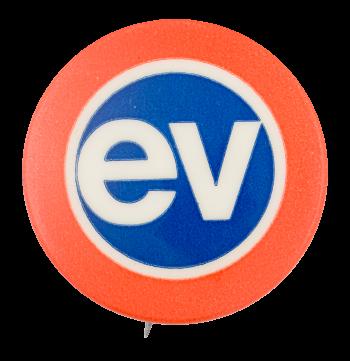 EV Advertising Button Museum