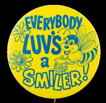 Everybody Luvs A Smiler Jewel-Osco Advertising Button Museum