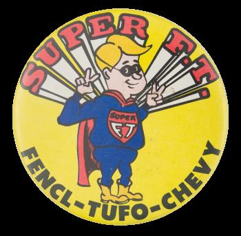 Fencl Tufo Chevrolet Advertising Button Museum