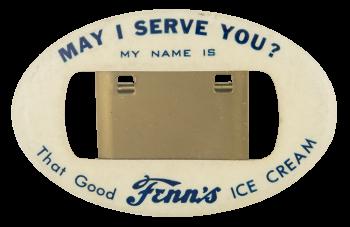 Fenn's Ice Cream Advertising Button Museum