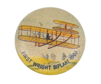 First Wright Biplane 1903 Art Button Museum