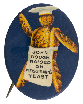 Fleischmanns Yeast Advertising Button Museum