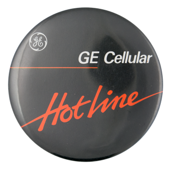 GE Cellular Advertising Button Museum