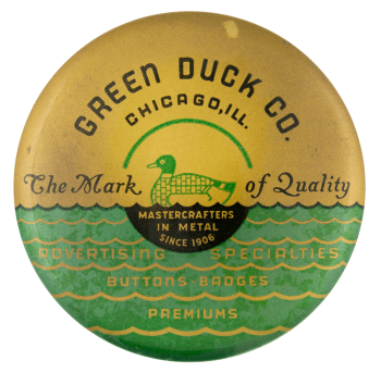 Green Duck the Mark of Quality Innovative Button Museum
