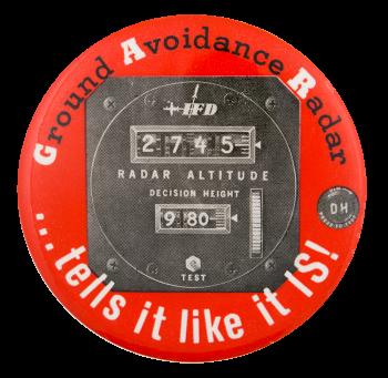 Ground Avoidance Radar Advertising Button Museum