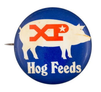 XP Hog Feeds Advertising Button Museum