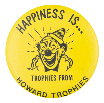 Howard Trophies Advertising Button Museum