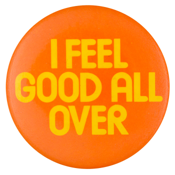 I Feel Good All Over Jamaica Air Advertising Busy Beaver Button Museum