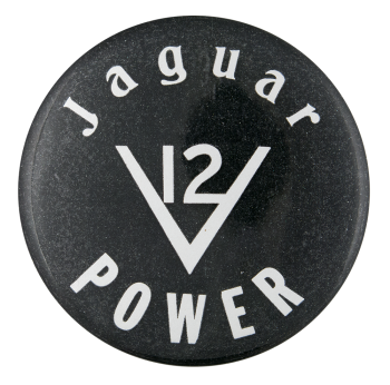 Jaguar Power Advertising Button Museum