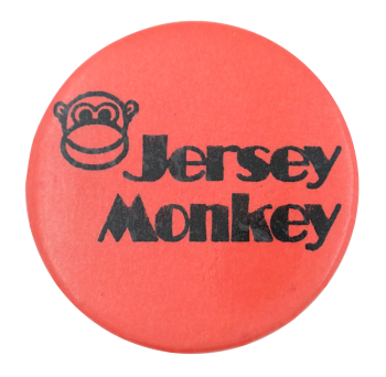 Jersey Monkey Advertising Button Museum