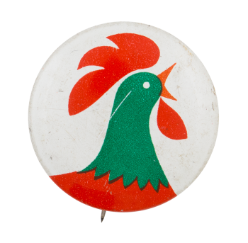 Kellogg's Corn Flakes Rooster Advertising Button Museum