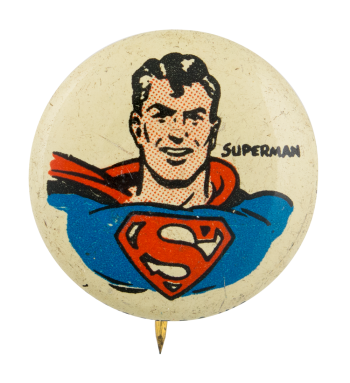 Kellogg's Pep Superman Advertising Button Museum