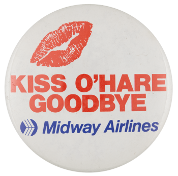 Midway Airlines Advertising Busy Beaver Button Museum