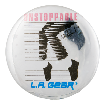 Unstoppable Michael Jackson L.A. Gear Advertising Button Museum