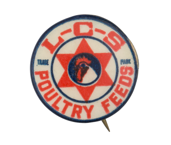 LCS Poultry Feeds Advertising Button Museum