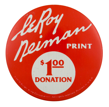 Le Roy Neiman Advertising Button Museum
