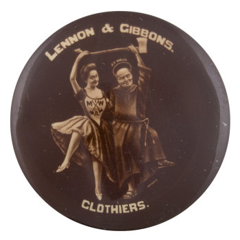 Lennon and Gibbons Clothiers Advertising Button Museum