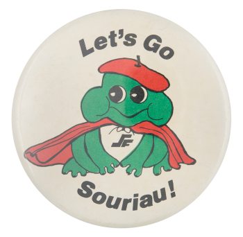 Let's Go Souriau Advertising Button Museum