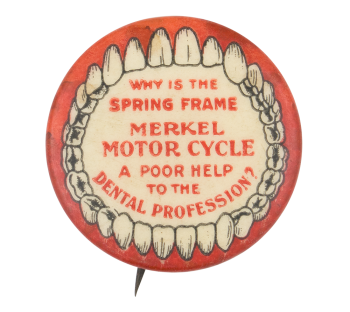 Merkel Motor Cycle Advertising Button Museum