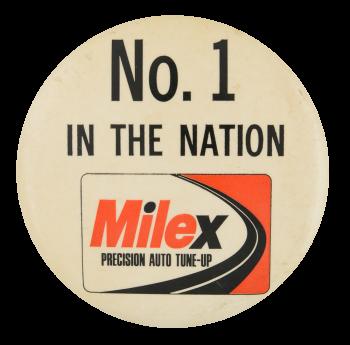 Milex Precision Auto Tune Up Advertising Button Museum