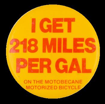 Motobecane Motorized Bicycle Advertising Button Museum
