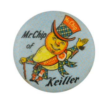 Mr. Chip of Keiller Advertising Busy Beaver Button Museum