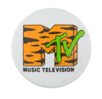 MTV Music Television Advertising Button Museum