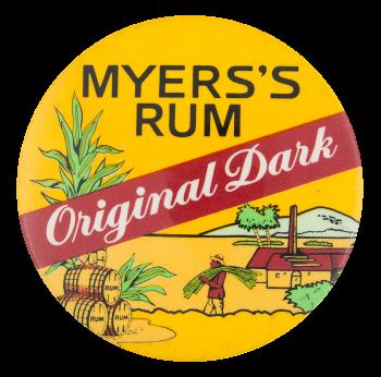Myer's Rum Original Dark Advertising Button Museum