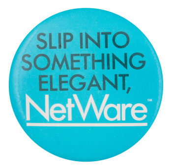 NetWare Advertising Button Museum