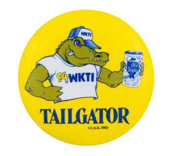 Old Style Tailgator Advertising Button Museum