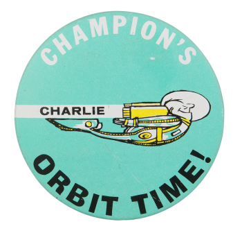 Orbit Time Advertising Button Museum