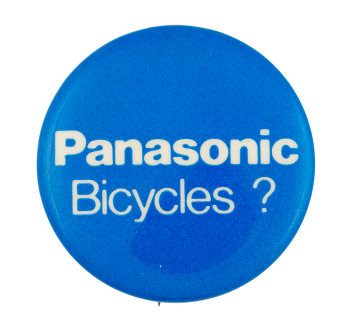 Panasonic Bicycles Advertising Button Museum
