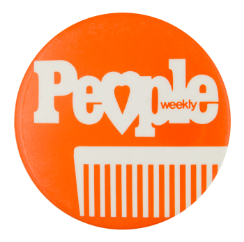 People Weekly Orange Advertising Button Museum