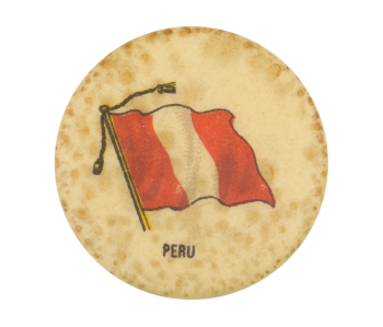 Peru Flag Advertising Button Museum
