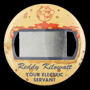 Reddy Kilowatt Badge Advertising Button Museum