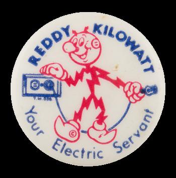 Reddy Kilowatt Electric Servant Advertising Button Museum