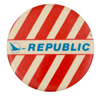 Republic Airlines Stripes Advertising Button Museum