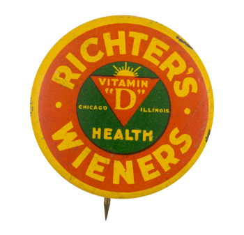 Richter's Wieners Advertising Button Museum