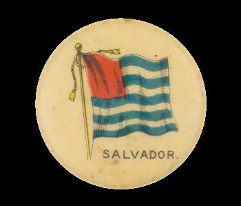 Salvador Flag Advertising Button Museum