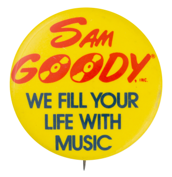 Sam Goody Advertising Button Museum