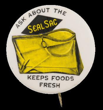 Seal Sac Advertising Button Museum