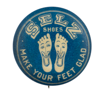 Selz Shoes Advertising Button Museum