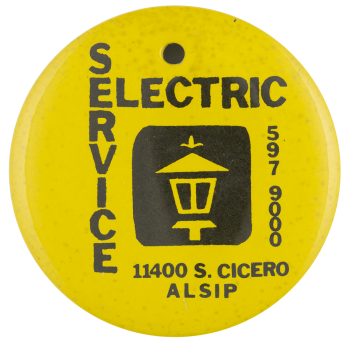 Service Electric Alsip advertising busy beaver button museum