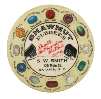 Shawmut Rubbers Advertising Button Museum